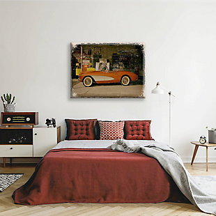 Stopping on Route 66 Slim 24X36 Canvas Wall Art, Red/Burgundy, rollover
