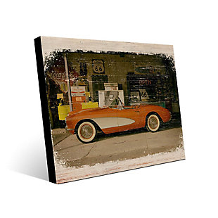 Stopping on Route 66 Slim 24X36 Metal Wall Art, Red/Burgundy, large