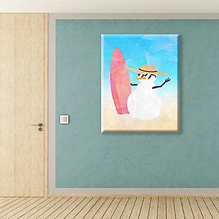 Snowman Summer Crystal 24X36 Canvas Wall Art, Multi, rollover