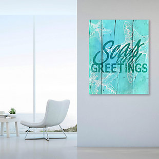 Sea and Greetings - Cerulean  16X20 Metal Wall Art, , rollover
