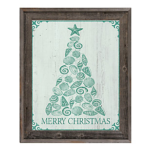 Shellmas Tree Leaf Wood 16X20 Barnwood Framed Canvas, , large