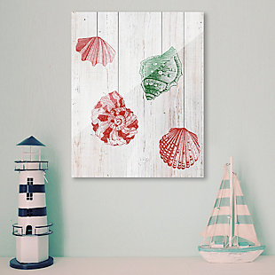 Christmas Shells - Red Side 24X36 Acrylic Wall Art, Red/Green, rollover