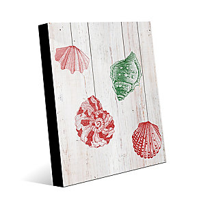 Christmas Shells - Red Side 24X36 Acrylic Wall Art, Red/Green, large
