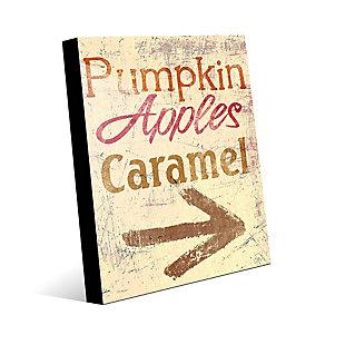 Pumpkin Apple Caramel - Yellow 24X36 Acrylic Wall Art, Multi, large