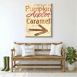 Pumpkin Apple Caramel - Yellow 24X36 Canvas Wall Art, Multi, rollover