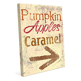 Pumpkin Apple Caramel - Yellow 24X36 Canvas Wall Art, Multi, large