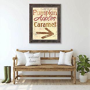 Pumpkin Apple Caramel - Yellow 24X36 Barnwood Framed Canvas, Multi, rollover
