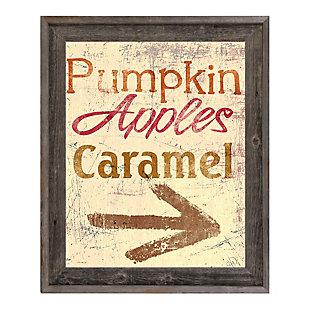 Pumpkin Apple Caramel - Yellow 24X36 Barnwood Framed Canvas, Multi, large