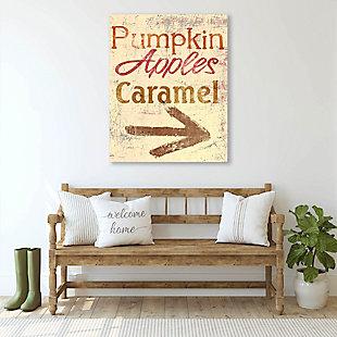 Pumpkin Apple Caramel - Yellow 24X36 Metal Wall Art, Multi, rollover