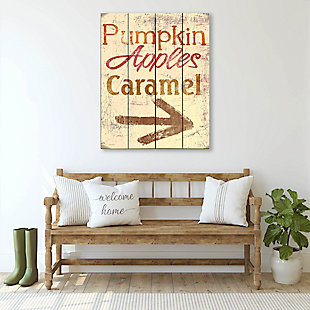 Pumpkin Apple Caramel - Yellow 20X24 Wood Plank Wall Art, Multi, rollover