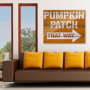Pumpkin Patch That Way 24X36 Acrylic Wall Art, Multi, rollover