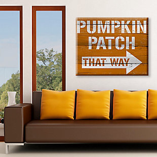 Pumpkin Patch That Way 30X40 Canvas Wall Art, Multi, rollover