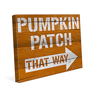 Pumpkin Patch That Way 30X40 Canvas Wall Art, Multi, large