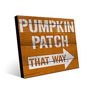 Pumpkin Patch That Way 24X36 Metal Wall Art, Multi, large