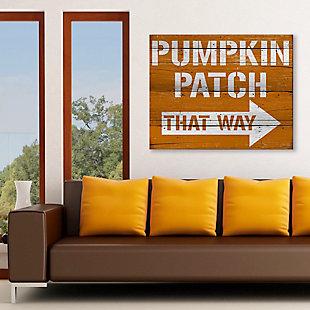 Pumpkin Patch That Way 20X24 Wood Plank Wall Art, Multi, rollover