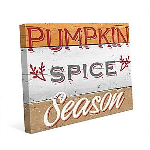 Pumpkin Spice Season - Tan 24X36 Canvas Wall Art, Multi, large