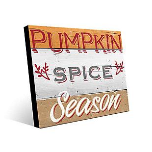 Pumpkin Spice Season - Tan 24X36 Metal Wall Art, Multi, large