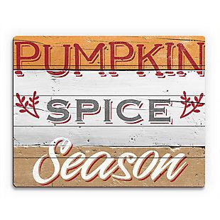 Pumpkin Spice Season - Tan 20X24 Wood Plank Wall Art, Multi, large