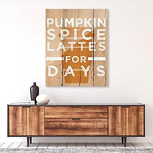 Pumpkin Spice Latte for Days 24X36 Acrylic Wall Art, Multi, rollover