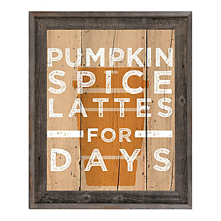 Pumpkin Spice Latte for Days 20X30 Barnwood Framed Canvas, , large