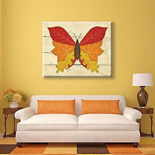 Butterfall - Plank 24X36 Canvas Wall Art, Multi, rollover