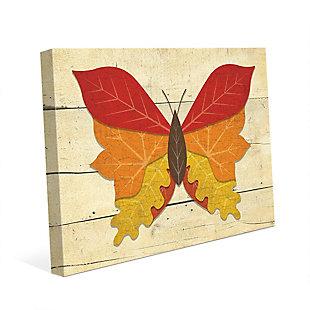 Butterfall - Plank 24X36 Canvas Wall Art, Multi, large