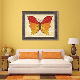 Butterfall - Plank 24X36 Barnwood Framed Canvas, Multi, rollover