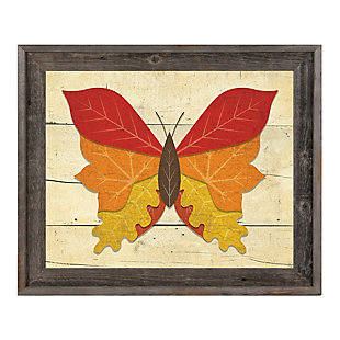 Butterfall - Plank 24X36 Barnwood Framed Canvas, , large
