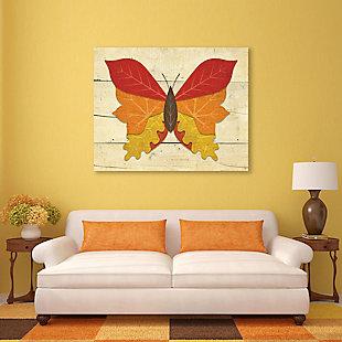Butterfall - Plank 24X36 Metal Wall Art, Multi, rollover