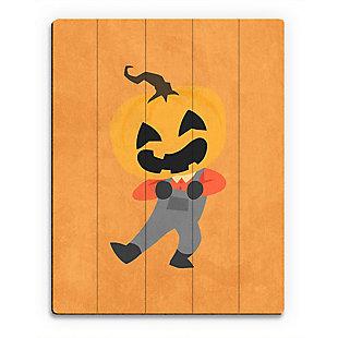 Halloween Jack - Orange 20X24 Wood Plank Wall Art, Orange, large
