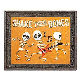 Them Bones - Orange 11X14 Barnwood Framed Canvas, , large