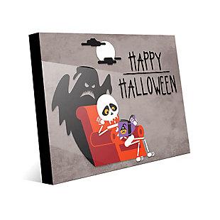 Halloween - Gray 24X36 Acrylic Wall Art, Black, large