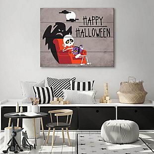 Halloween - Gray 20X24 Wood Plank Wall Art, Black, rollover