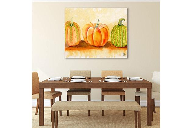 Pumpkins Beta 24X36 Acrylic Wall Art, Orange, large