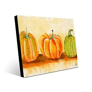 Pumpkins Beta 24X36 Metal Wall Art, Orange, large