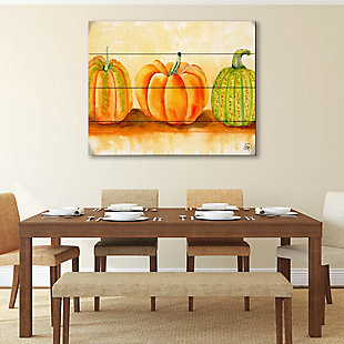 Pumpkins Beta 20X24 Wood Plank Wall Art, Orange, rollover