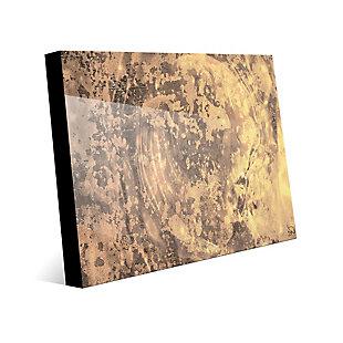 Volcanic Radar 24X36 Acrylic Wall Art, Brown, large
