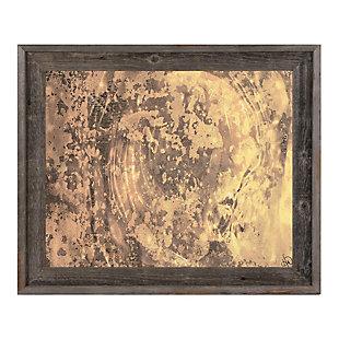 Volcanic Radar 24X36 Barnwood Framed Canvas, Brown, large