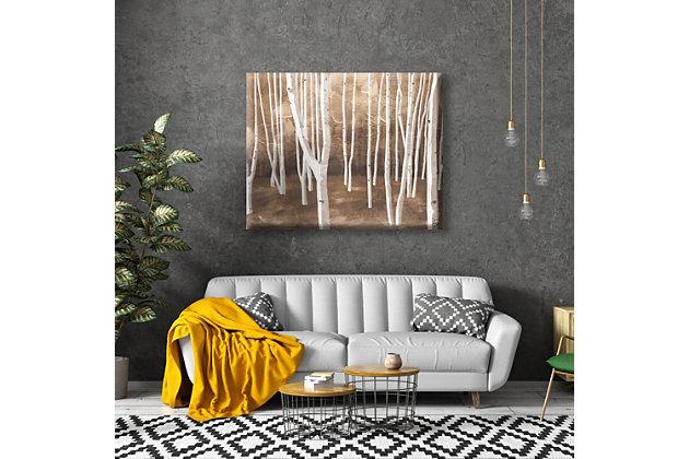 Autumn Forest Alpha 16X20 Canvas Wall Art, Brown, large