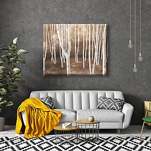Autumn Forest Alpha 24X36 Canvas Wall Art, Brown, rollover