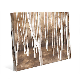 Autumn Forest Alpha 24X36 Canvas Wall Art, Brown, large