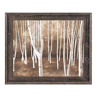 Autumn Forest Alpha 24X36 Barnwood Framed Canvas, Brown, large
