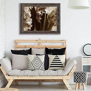 Vase Delta 24X36 Barnwood Framed Canvas, Black, rollover
