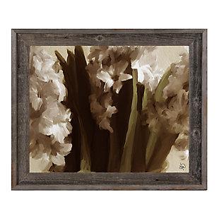 Vase Delta 24X36 Barnwood Framed Canvas, Black, large