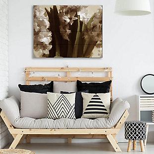 Vase Delta 20X24 Wood Plank Wall Art, Black, rollover