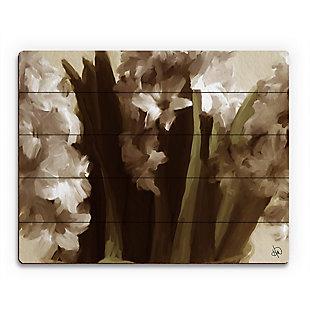 Vase Delta 20X24 Wood Plank Wall Art, Black, large