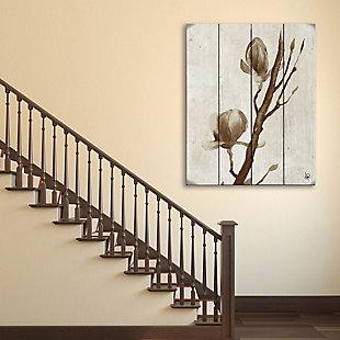 Blossom Beta 20X24 Wood Plank Wall Art, Brown, rollover