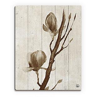 Blossom Beta 20X24 Wood Plank Wall Art, Brown, large