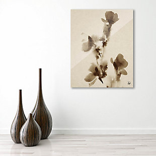 Flowers Alpha 24X36 Acrylic Wall Art, Brown, rollover