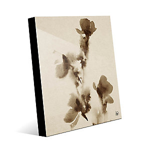 Flowers Alpha 24X36 Acrylic Wall Art, Brown, large